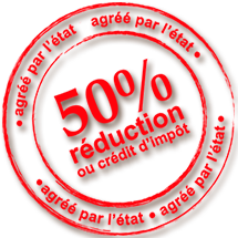 reduction de 50% ou crédits d'impots